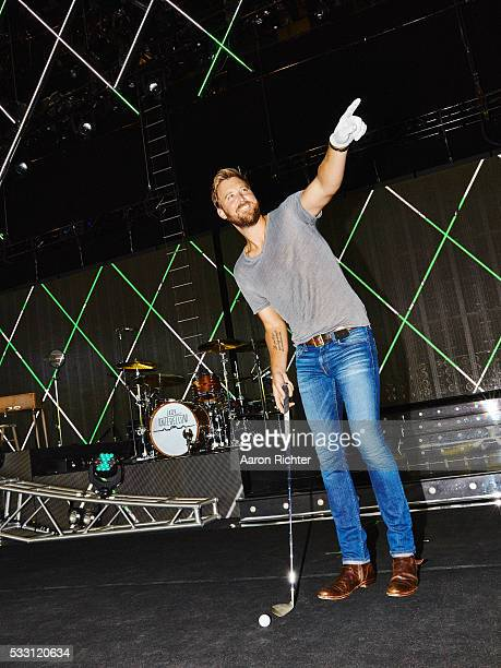 Charles Kelley of Lady Antebellum is photographed for Golf Digest in August 2015 at the Xfinity Theater in Hartford Connecticut PUBLISHED IMAGE