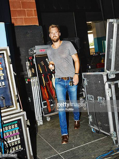Charles Kelley of Lady Antebellum is photographed for Golf Digest in August 2015 at the Xfinity Theater in Hartford Connecticut