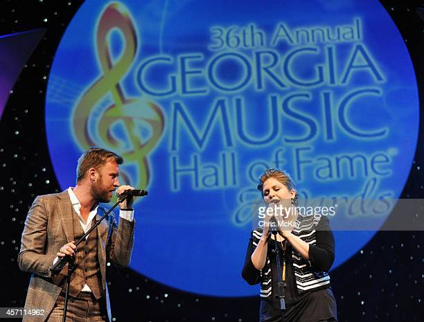 Charles Kelly and Hillary Scott of Lady Antebellum perform during the 36th annual Georgia Music Hall of Fame Awards at the Georgia World Congress...