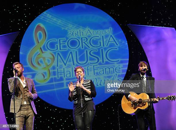 Charles Kelly Hillary Scott and Dave Haywood of Lady Antebellum perform during the 36th annual Georgia Music Hall of Fame Awards at the Georgia World...