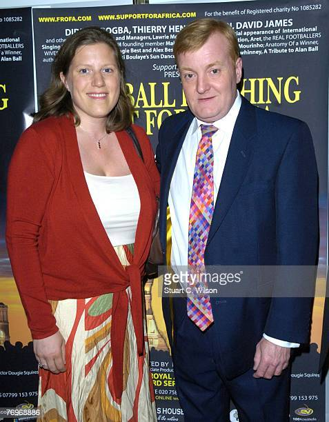 Charles Kennedy and partner attend the 'Football Reaching out for Africa' concert at the Royal Albert Hall on September 23 2007 in London England