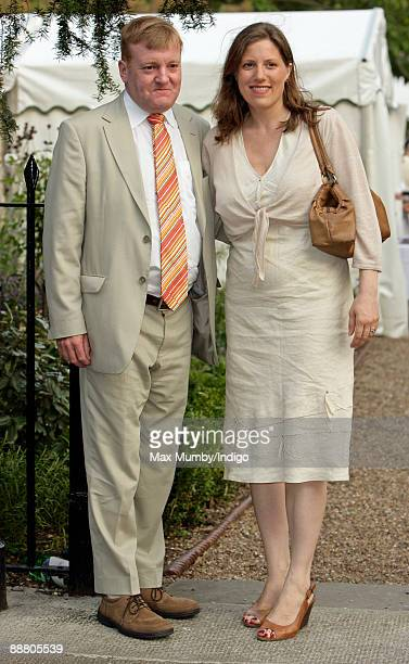 Charles Kennedy and Sarah Gurling attend Sir David Frost's Summer garden party on July 2 2009 in London England