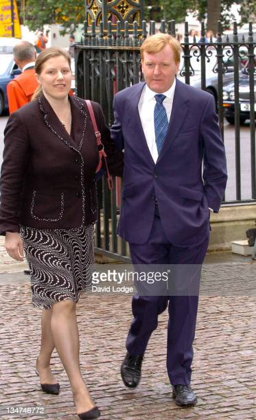 Charles Kennedy and Sarah Kennedy during Memorial Service for Lord Callaghan at Westminster Abbey in London Great Britain