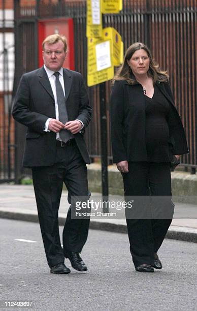 Charles Kennedy MP leader of the Liberal Democrat Party and wife Sarah Kennedy