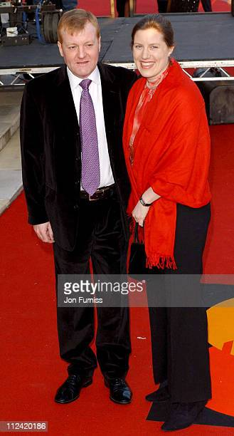 Charles Kennedy with wife during 2003 Brit Awards In Association With Mastercard Arrivals at Earls Court in London Great Britain