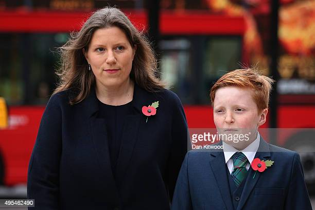 Charles Kennedy's former wife Sarah Gurling and his son Donald Kennedy arrive at St Georges Cathedral for a memorial service for former Liberal...