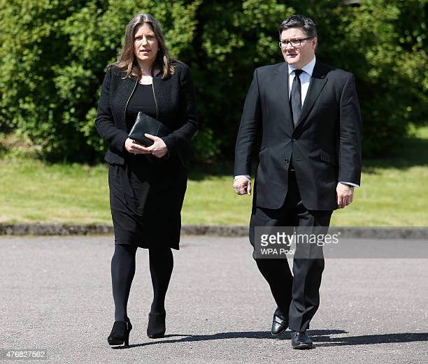 Charles Kennedy's former wife Sarah Gurling arrives at St John's Roman Catholic Church for the funeral of the former Liberal Democrat leader on June...