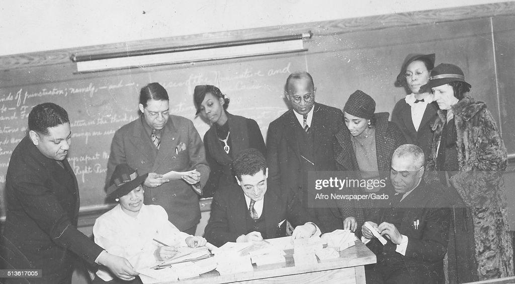 Charles Keys during Afro American Newspapers Health Week marathon, 1940.