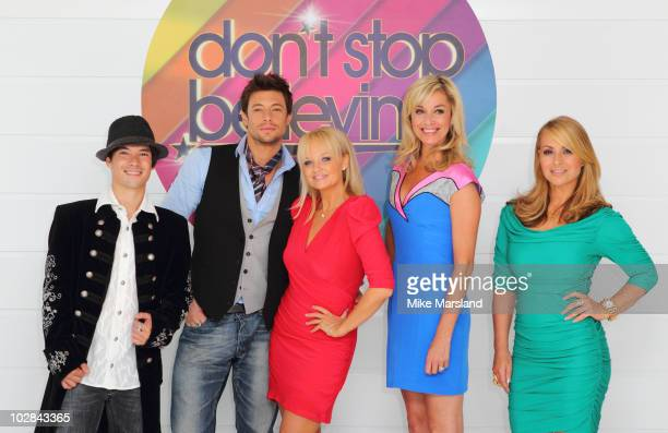 Charles Klapow, Duncan James, Emma Bunton, Tamzin Outhwaite and Anastacia attend photocall to launch new TV talent contest - Don't Stop Believing on...