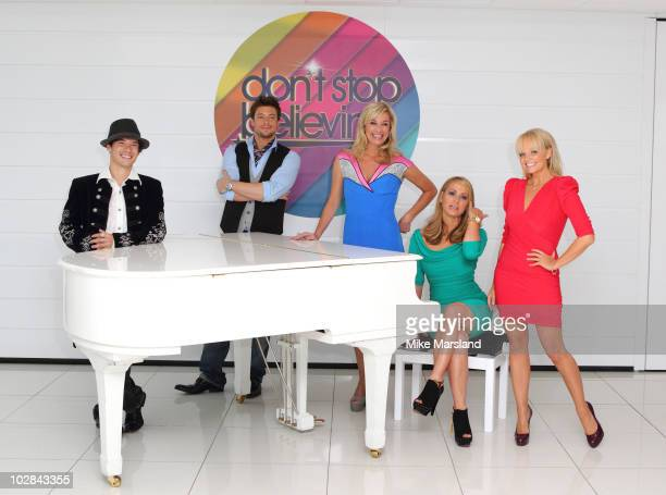 Charles Klapow, Duncan James, Tamzin Outhwaite, Anastacia and Emma Bunton attend photocall to launch new TV talent contest - Don't Stop Believing on...