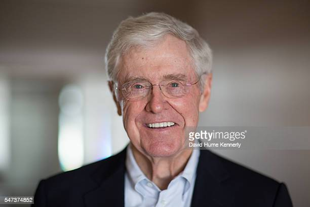Charles Koch at a conference for the Freedom Partners Chamber of Commerce a freemarket advocacy nonprofit funded by Koch and his brother David Koch...