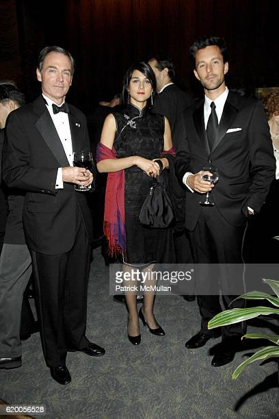 Charles Kolb, Tiphaine Tartour and Thomas Zimmerman attend the French-American Foundation 2008 Gala at the Four Seasons Restaurant on November 18,...