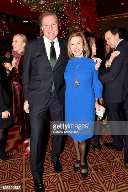Charles L Conlan and Judy Gordon Cox attend A Christmas Cheer Holiday Party 2017 Hosted by George Farias Anne and Jay McInerney at The Doubles Club...