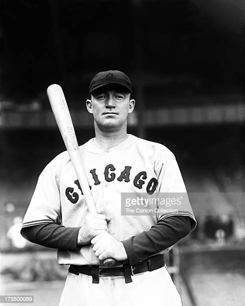 Charles L Hartnett of the Chicago Cubs at bat in 1932