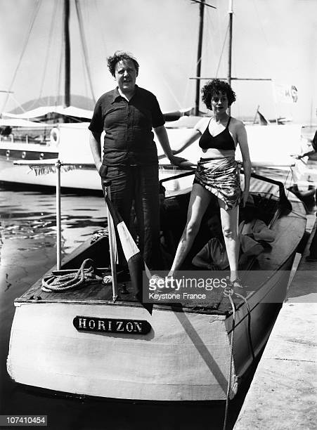 Charles Laughton And His Wife Elsa Lanchester In Saint Raphael In 1939