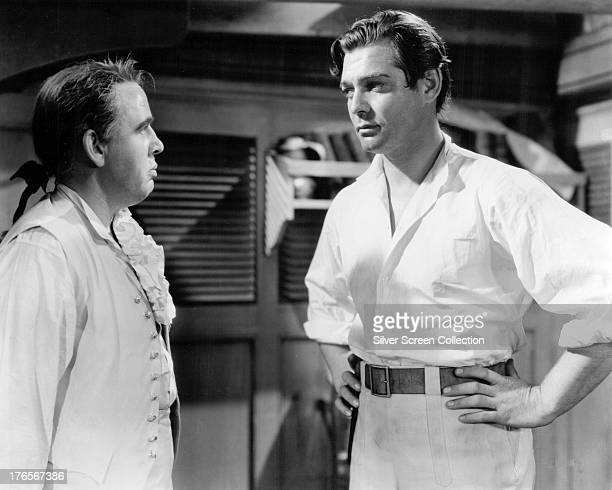 Charles Laughton as Captain Bligh and Clark Gable as Fletcher Christian in 'Mutiny On The Bounty' directed by Frank Lloyd 1935
