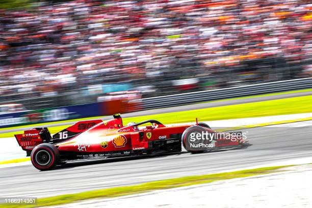 Charles Leclerc driving the Scuderia Ferrari Mission Winnow on track during the Formula One Grand Prix of Italy at Autodromo di Monza on September 8,...