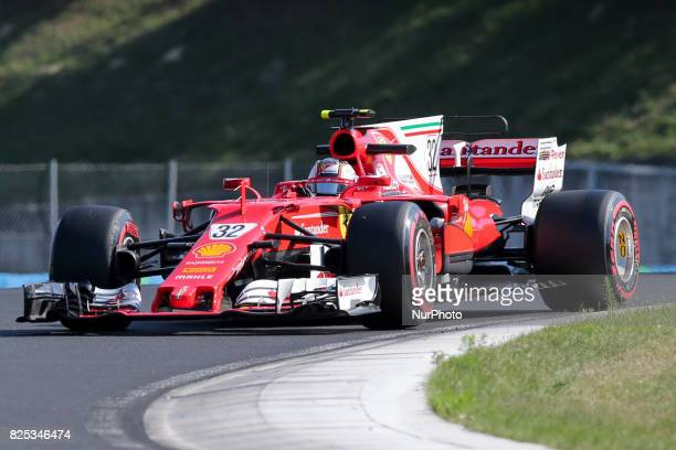 Charles Leclerc during day one of F1 inseason testing at Hungaroring on August 1 2017 in Budapest Hungary