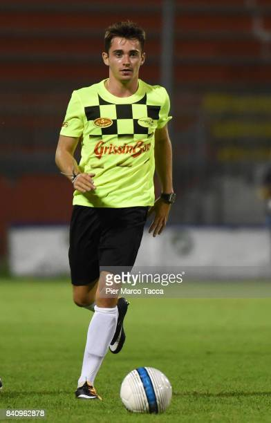 Charles Leclerc in action during the F1 Drivers Charity Match at Stadio Brianteo on August 30 2017 in Monza Italy