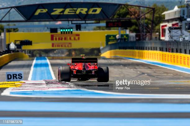 Charles Leclerc of Ferrari and France during qualifying for the F1 Grand Prix of France at Circuit Paul Ricard on June 22, 2019 in Le Castellet,...