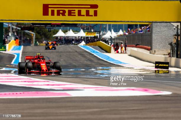 Charles Leclerc of Ferrari and France during the F1 Grand Prix of France at Circuit Paul Ricard on June 23, 2019 in Le Castellet, France.