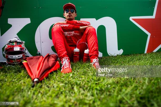 Charles Leclerc of Ferrari and France during the F1 Grand Prix of Italy at Autodromo di Monza on September 08 2019 in Monza Italy