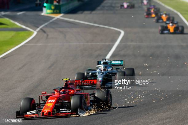 Charles Leclerc of Ferrari and France during the F1 Grand Prix of Japan at Suzuka Circuit on October 13 2019 in Suzuka Japan