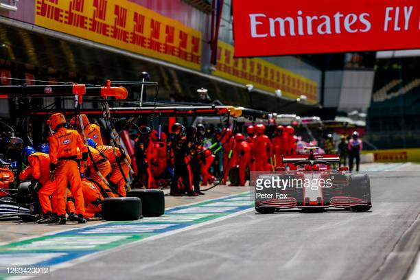 Charles Leclerc of Ferrari and France during the F1 Grand Prix of Great Britain at Silverstone on August 02 2020 in Northampton England