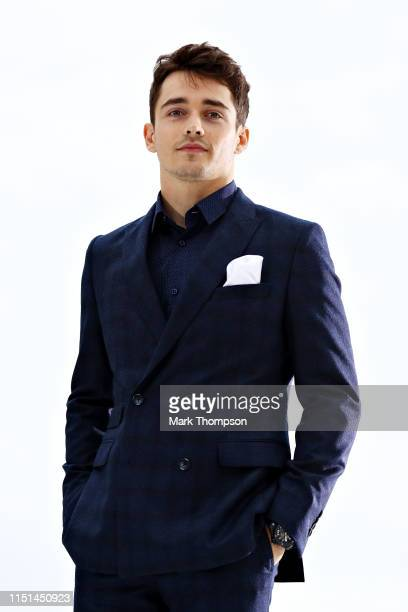 Charles Leclerc of Monaco and Ferrari walks in the Amber Lounge Fashion Show during previews ahead of the F1 Grand Prix of Monaco at Circuit de...