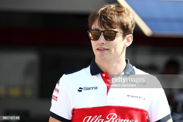 Charles Leclerc of Monaco and Sauber Alfa Romeo in the paddock during the Formula One Grand Prix de France