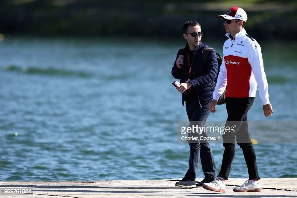 Charles Leclerc of Monaco and Sauber F1 arrives at the circuit before practice for the Canadian Formula One Grand Prix at Circuit Gilles Villeneuve...