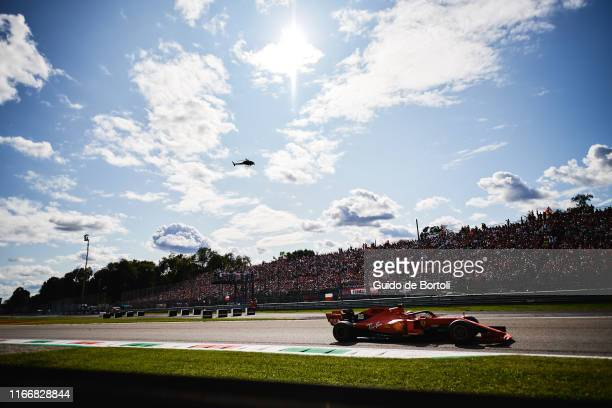Charles Leclerc of Monaco and Scuderia Ferrari in action during the Formula 1 Grand Prix of Italy at Autodromo di Monza on September 8 2019 in Monza...