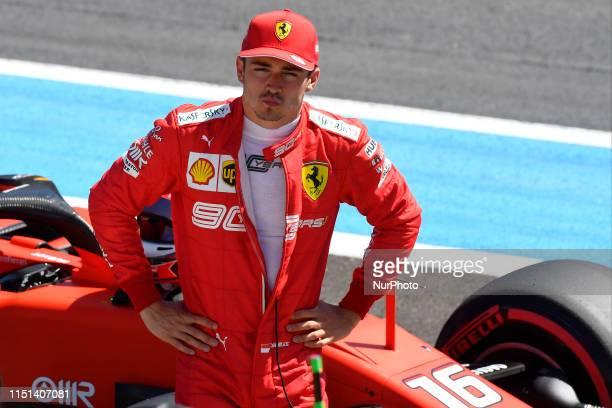 Charles Leclerc of Monaco and Scuderia Ferrari Mission Winnow during the Pirelli GP de France 2019 at Circuit Paul Ricard on June 22 2019 in Le...