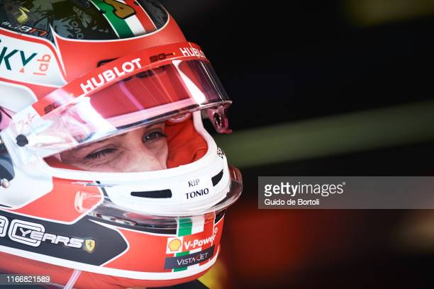 Charles Leclerc of Monaco and Scuderia Ferrari smiles before the start of the Formula 1 Grand Prix of Italy at Autodromo di Monza on September 8 2019...