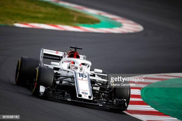 CATALUNYA MONTMELò BARCELONA SPAIN Charles Leclerc of Monaco driving the Alfa Romeo Sauber F1 Team C37 Ferrari on track during day two of F1 Winter...