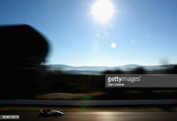 Charles Leclerc of Monaco driving the Alfa Romeo Sauber F1 Team C37 Ferrari on track during day four of F1 Winter Testing at Circuit de Catalunya on...