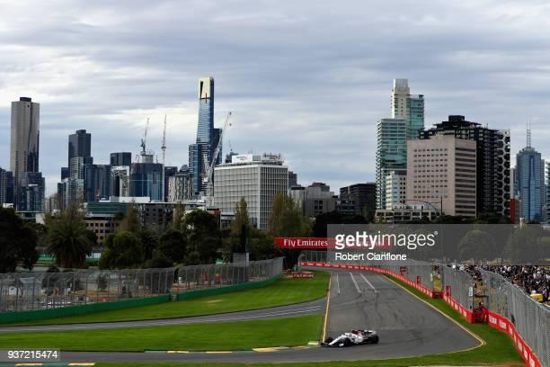 Charles Leclerc of Monaco driving the Alfa Romeo Sauber F1 Team C37 Ferrari on track during qualifying for the Australian Formula One Grand Prix at...