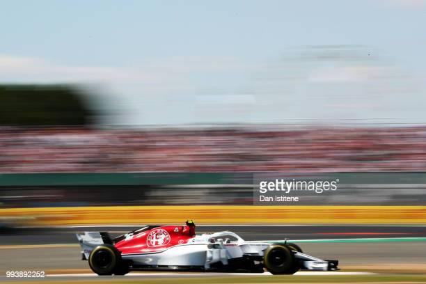 Charles Leclerc of Monaco driving the Alfa Romeo Sauber F1 Team C37 Ferrari on track during the Formula One Grand Prix of Great Britain at...