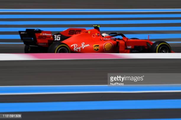 Charles Leclerc of Monaco driving the Scuderia Ferrari Mission Winnow SF90 during the Pirelli GP de France 2019 at Circuit Paul Ricard on June 23...