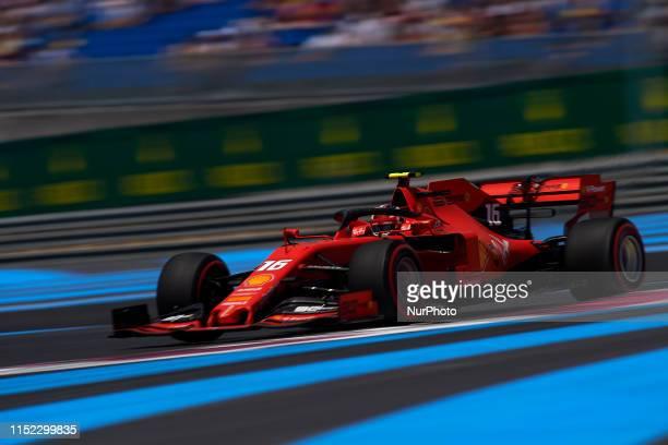 Charles Leclerc of Monaco driving the Scuderia Ferrari Mission Winnow SF90 during the Pirelli GP de France 2019 at Circuit Paul Ricard on June 22...