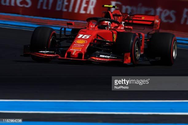Charles Leclerc of Monaco driving the Scuderia Ferrari Mission Winnow SF90 during the Pirelli GP de France 2019 at Circuit Paul Ricard on June 21...