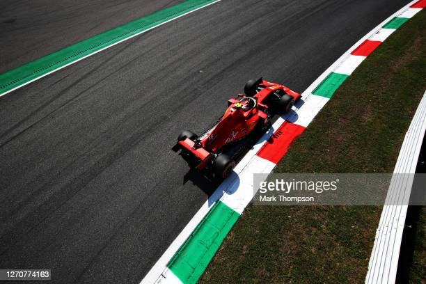 Charles Leclerc of Monaco driving the Scuderia Ferrari SF1000 during final practice for the F1 Grand Prix of Italy at Autodromo di Monza on September...