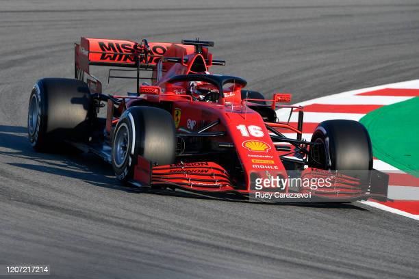 Charles Leclerc of Monaco driving the Scuderia Ferrari SF1000 on track during day one of Formula 1 Winter Testing at Circuit de BarcelonaCatalunya on...