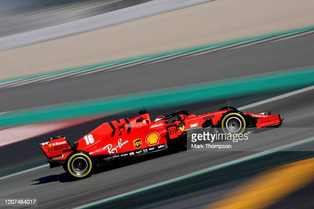 Charles Leclerc of Monaco driving the Scuderia Ferrari SF1000 on track during day two of F1 Winter Testing at Circuit de BarcelonaCatalunya on...