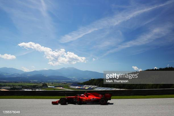 Charles Leclerc of Monaco driving the Scuderia Ferrari SF1000 on track during practice for the F1 Grand Prix of Styria at Red Bull Ring on July 10...