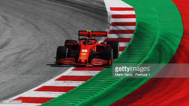 Charles Leclerc of Monaco driving the Scuderia Ferrari SF1000 on track during practice for the F1 Grand Prix of Styria at Red Bull Ring on July 10,...