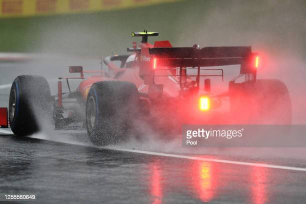 Charles Leclerc of Monaco driving the Scuderia Ferrari SF1000 on track during qualifying for the Formula One Grand Prix of Styria at Red Bull Ring on...
