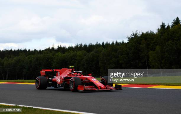 Charles Leclerc of Monaco driving the Scuderia Ferrari SF1000 on track during qualifying for the F1 Grand Prix of Belgium at Circuit de...