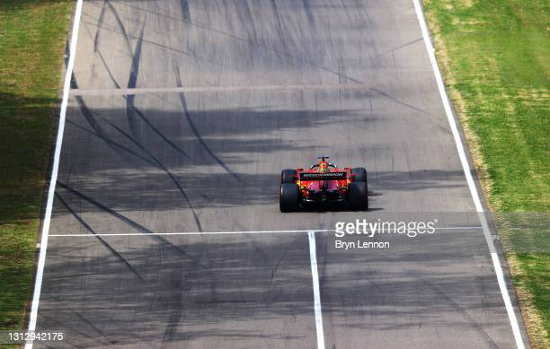 Charles Leclerc of Monaco driving the Scuderia Ferrari SF21 on track during final practice ahead of the F1 Grand Prix of Emilia Romagna at Autodromo...