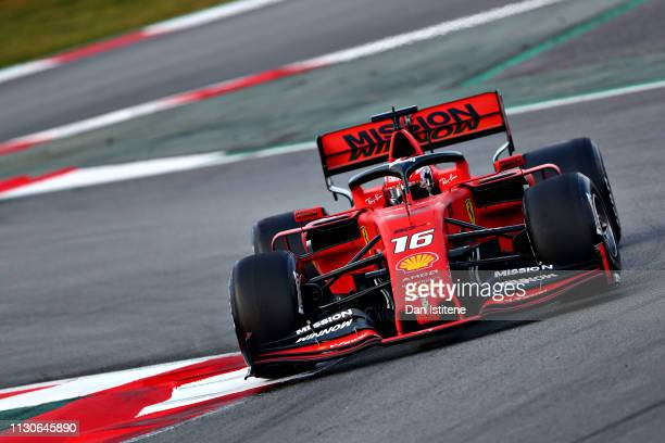 Charles Leclerc of Monaco driving the Scuderia Ferrari SF90 on track during day two of F1 Winter Testing at Circuit de Catalunya on February 19 2019...